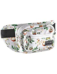 BRKN LABEL Hip Pack – Unisex Fanny Pack with Two Zip Compartments, Secret Pocket and Adjustable Strap – Water-Resistant Bum Bag for Festivals, Travelling, Hiking, Running, Cycling and More