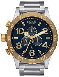 Nixon A083-1922 Mens 51-30 Silver Steel Bracelet Chrono Watch