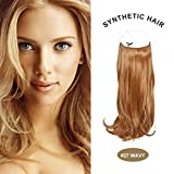 COCO Secret Extensions Curly Wavy Hair Extensions 20 inch strawberry blonde by COCO