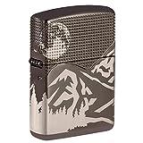Zippo Armor Mountain Design Black Ice Pocket Lighter (Color: Armor Black Ice Mountain Design, Tamaño: One Size)