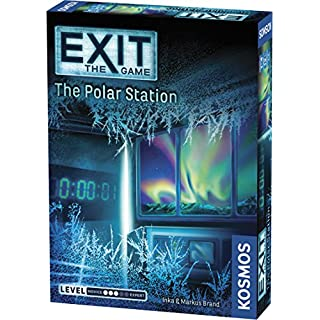 Thames & Kosmos 692865 Exit: The Polar Station | Exit: The Game - A Kosmos Game | Family-Friendly, Card-Based at-Home Escape Room Experience for 1 to 4 Players, Ages 12+