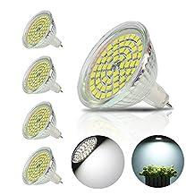4 Pack 4W GU5.3 MR16 LED Bulb, Not Dimmable AC DC 12V ,120 ° Beam Angle Spotlight Recessed Lighting Track Lighting ,35W Halogen Bulbs Equivalent LED Light Bulbs (Cool White)