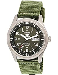 5 Men's SNZG09K1 Sport Analog Automatic Khaki Green Canvas Watch
