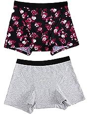 Menstrual Period Underwear for Women Leak Proof Boy Short Absorbent Period Boxer Briefs Period Mid Waist Panties