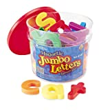 Learning Resources Jumbo Lowercase Magnetic Letters, Set of 40