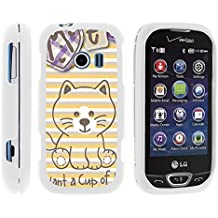 LG Extravert 2, Stylish Personalized Protective Snap On Hard Case Phone Protector for LG Extravert 2 VN280 (Verizon) by MINITURTLE - Cute Little Fox