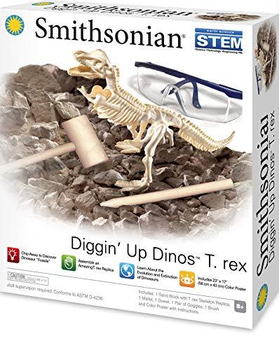 Desenterre e Monte o Dinossauro T-Rex, Smithsonian, Verde