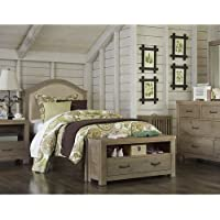NE Kids Highlands Bailey Twin Upholstered Bed in Driftwood