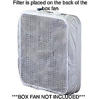Microfiber Fan Filter For 20 Inch Box Fan, 60 Day Filtration (Set of 2): Box Fan Not Included