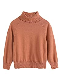 BBXX Little Boys' Turtleneck Sweater Long Sleeve Solid Color Sweatshirts for Kids 2-7