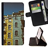 Graphic4You Lisbon Portugal Postcard View Thin Wallet Card Holder Leather Case Cover for HTC U Play