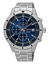 Seiko Chronograph Blue Dial Mens Watch SKS559