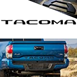 YaaGoo For Tailgate Letter Fit 2014-2018 Toyota TACOMA,Insert Hard Plastic Sticker,Matte Black