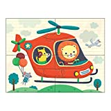 Mudpuppy Transportation 4-in-a-Box Puzzles, Ages