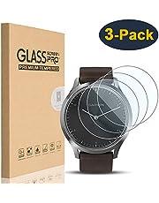 HEYUS [3 Pack] for Garmin Vivomove HR Screen Protector, 9H Hardness 0.3mm 2.5D Scratch Resistant Anti-Bubbles Anti-Fingerprint Tempered Glass Protective Film Cover for Garmin Vivomove HR
