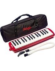 Stagg MELOSTA32RD 32 Note Melodica met koffer, een maat, Rood, Eén maat