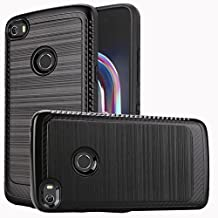 Alcatel Idol 5 / 6058 Case, Luckiefind Slim Brush Texture Hybrid Defender Armor Protective Case Cover with Stylus Pen & Screen Protector Accessory (Brush Black)