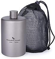 Boundless Voyage 200ML Titanium Flagon Portable Pocket Alcohol Flask Ultralight Only 1.66 Ounces Ti1579B