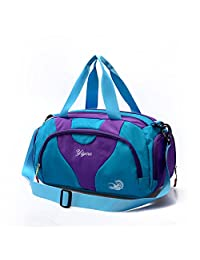 Hit Color Swim Bag Duffle Bag Travel Sports Gym Bag Waterproof with Dry Wet Area Shoes Compartment for Women Men