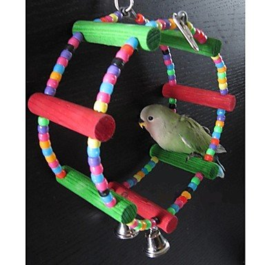 Quick shopping colorful Round Shape Swing Toys for Small Bird (23 x 7.5cm)