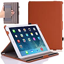 iPad Air 2 Case - MoKo Slim-Fit Multi-angle Folio Cover Case for Apple iPad Air 2 (iPad 6) 9.7 Inch 2014 Tablet, BROWN (with Auto Sleep / wake, Not fit iPad Air 2013)