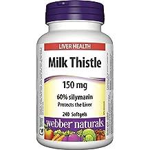 Webber Naturals Milk Thistle 150 mg · 60% Silymarin, 240 Softgels