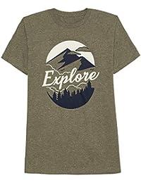Mens S-2XL Explore Wilderness Graphic Tee