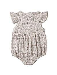 0e1657ec188 Lzxuan Newborn Baby Girl Romper Floral Print Vintage Jumpsuit Outfit  Playsuit Clothes