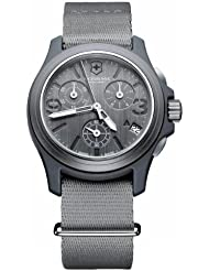 Victorinox Swiss Army Mens 241532 Original Chronograph Grey Nylon Strap Watch