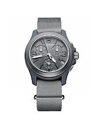 Victorinox Swiss Army Men's 241532 Original Chronograph Grey Nylon Strap Watch