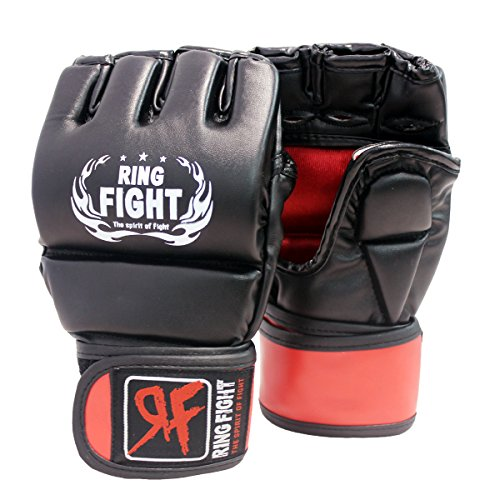 Ring Fight MMA UFC Grappling Gloves Thumb Protection Black/Red Price & Reviews