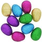 Glitter Hollow Plastic Easter Eggs 10-ct. Packs