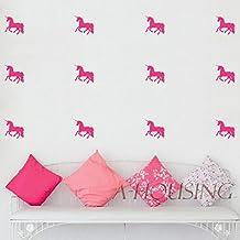 2016 NEW 16 pcs Cartoon Little Unicorns Wall Stickers Wall Decal, home decoration wall art decor,DIY vinyl home decoration