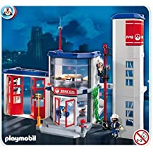 Playmobil Emergency Fire Station Building Play Set by Playmobil Toys