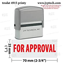 Extra Large Trodat 4915 Self Inking Rubber Stamp w. For Approval