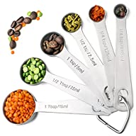 Palada 430 Stainless Steel Measuring Spoons, All in One Set of 6 Professional Spoons, Engraved, Cute…