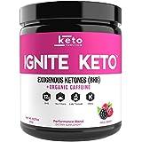 IGNITE KETO Energy Supplement - 12g BHB Salts plus Organic Caffeine - Ketone Drink for Ketosis, Energy, Focus & Weight Loss - Fuel a Ketogenic Diet - goBHB Beta Hydroxybutyrate Ketone Drink Powder Mix