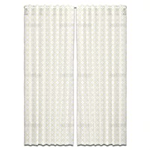 Quatrefoil Curtain: Wide and Extra Long Window Treatment Set of 2 Panels for Living Room Bed Room