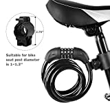 Titanker Bike Lock Cable, 6-Feet Bike Cable Basic