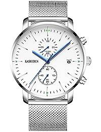 KASHIDUN.Men's Quartz Watches Large Military Wrist...