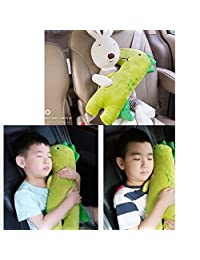 YTYC Cute Doll Car Seat Strap Belt Cushion Cover for Kids Children, Adjustable Pillow Pad Vehicle Car Safety Belt Toy Pet Protect Shoulder Chest Child