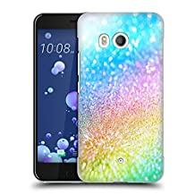 Official Haroulita Rainbow Glitter Sparkle Hard Back Case for HTC U11 / Dual