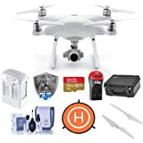 DJI Phantom 4 Advanced+ Quadcopter Drone with 5.5in FHD Screen Remote Controller-Bundle With 64GB McroSDHC Card, DJI Care Refresh Warranty, Go Professional Carrying Case, Intelligent Battery, And More