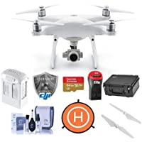 DJI Phantom 4 Advanced Quadcopter Drone with Remote Controller - Bundle With 64GB MicroSDHC Card, DJI Care Refresh Warranty, Go Professional Carrying Case, Intelligent Battery, Propellers, And More