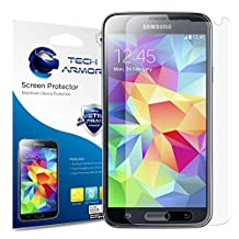 Galaxy S5 Screen Protector, Tech Armor Anti-Glare/Anti-Fingerprint Sasmsung Galaxy S5 Film Screen Protector [3-Pack]