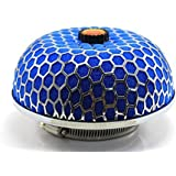 376mm Universal Kits Auto Cold Air intake Filter High flow Racing Round Mushroom Air Filter Reuseable Fuel Economy Blue