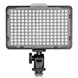 Neewer Photo Studio 176 LED Ultra Bright Dimmable on Camera Video Light with 1/4-inch Thread Mount for Canon, Nikon, Pentax, Panasonic, Sony, Samsung, Olympus and Other Digital SLR Cameras, 3200-5600K