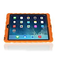 Gumdrop Cases Hideaway with Stand for iPad Air (iPad 5), Orange/Black (GS-IPAD5-ORN-BLK)