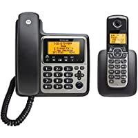MOTOROLA M802C DECT 6.0 2-Handset Digital Cordless/Corded Phone System with Answering Machine electronic consumer