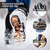 EnergeticSky 24 Spikes Crampons Ice Cleats Traction Snow Grips for Boots Shoes,Anti-Slip Stainless Steel Spikes,Microspikes for Hiking Fishing Walking Climbing Jogging